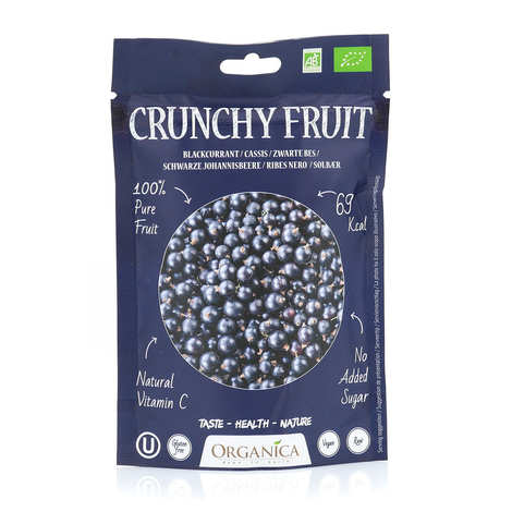 Organica - Crunchy fruit - Organic Freeze-Dried black currants
