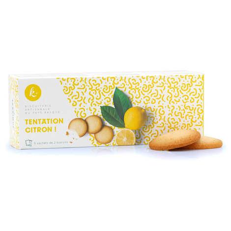 Okina La Biscuiterie Basque - Biscuits Tentation au Citron - fabriqué au Pays basque