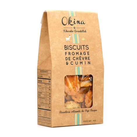Okina La Biscuiterie Basque - Biscuits salés Fromage de chèvre et cumin