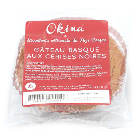 Okina La Biscuiterie Basque - Basque Cake with black cherry