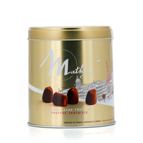 Chocolat Mathez - Truffes Fantaisie nature en papillote individuelle