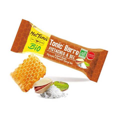 Meltonic - Organic salted energy bar - Honey, Pistachios & salt of Guérande