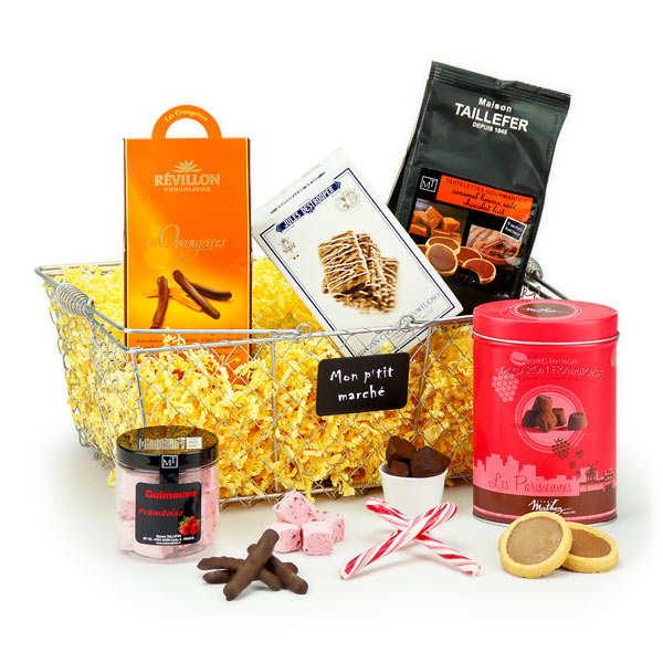 Panier cadeau douceurs à partager