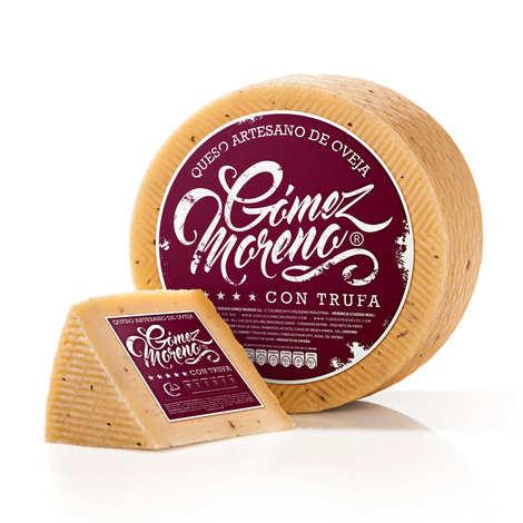 Gomez Moreno - Manchego semi-curado truffé La Mancha AOC - fromage semi-affiné au lait cru de brebis