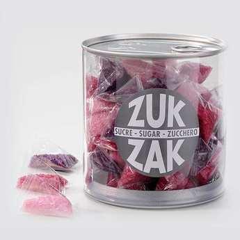 Zuk-Zak - 40 mini-berlingots de sucre coloré - assortiment rose