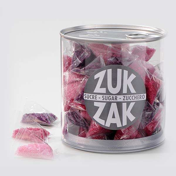 40 mini-sachets of coloured sugar - all shades of pink