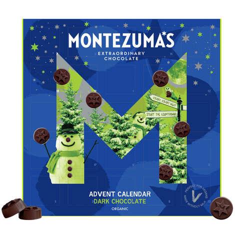 Montezuma's - Calendrier de l'avent chocolat noir bio et vegan - Montezuma