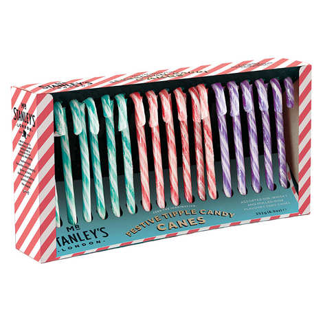 Mr Stanley's - Mr Stanley's assortment of 18 sugar canes flavoured with gin, whisky and mulled wine