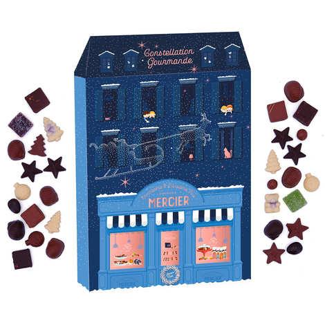 Maison Mercier - Calendrier de l'Avent au chocolat Mercier (24 pralines et ganaches)