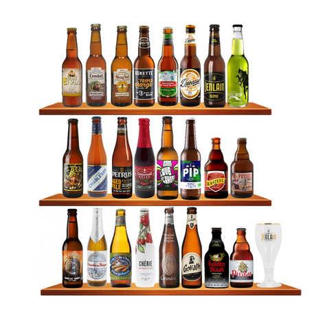 - Calendrier de l'avent 24 bières franco-belges + 1 verre + 1 Guide