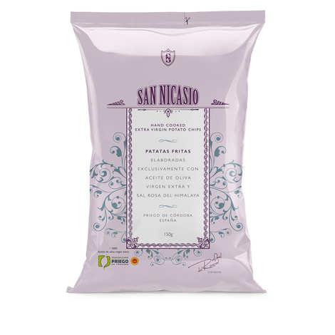 San Nicasio - Chips de luxe à l'huile d'olive extra-vierge et au sel rose