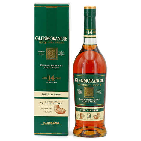 Glenmorangie - Glenmorangie Quinta Ribbon 14 years in orange pewter gift box