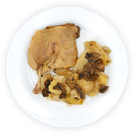 Viaule Traiteur - Confit of duck and potatoes from Sarlat - Fresh catering platter