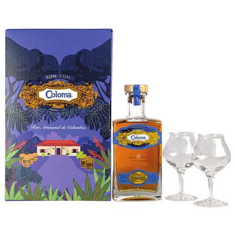 Hacienda Coloma - Gift box rum Coloma 8 years 40% and coffee liqueur