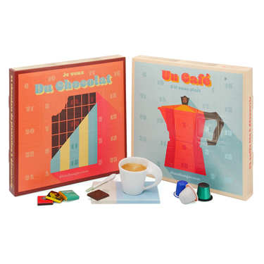 Lot calendriers de l'avent chocolats et cafés du monde
