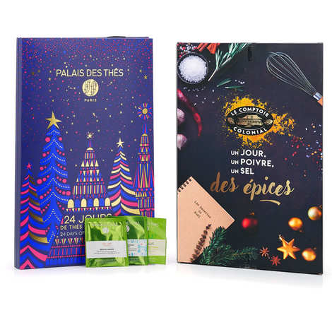 - Advent calendars set with Damman Frères tea and Comptoir Colonial spices