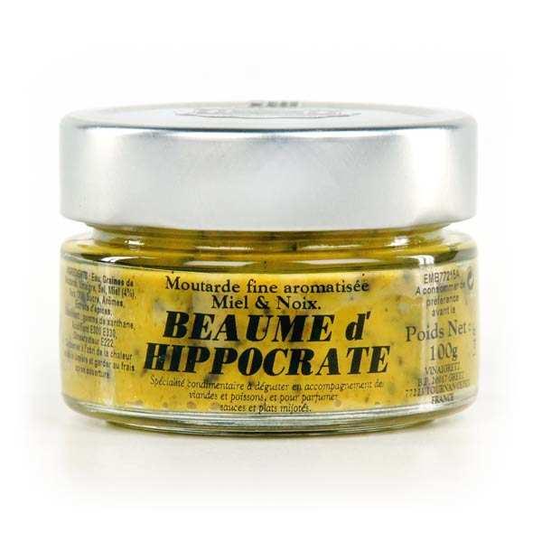 Moutarde gourmet au miel et aux noix
