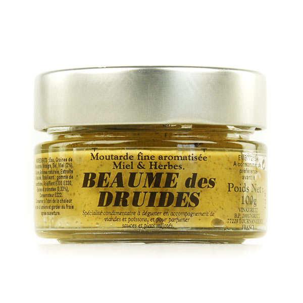 Moutarde gourmet au miel et aux herbes