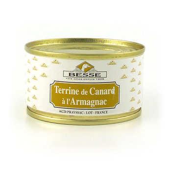 Foie gras GA BESSE - Terrine de canard à l'armagnac