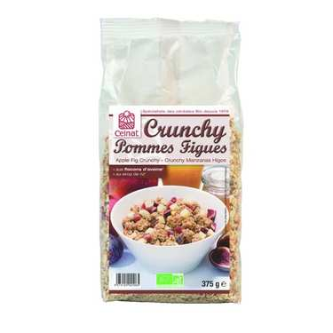 Organic Crunchy fig and apple cereal