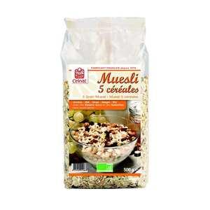 Celnat - Muesli 5 céréales bio - 18% fruits secs