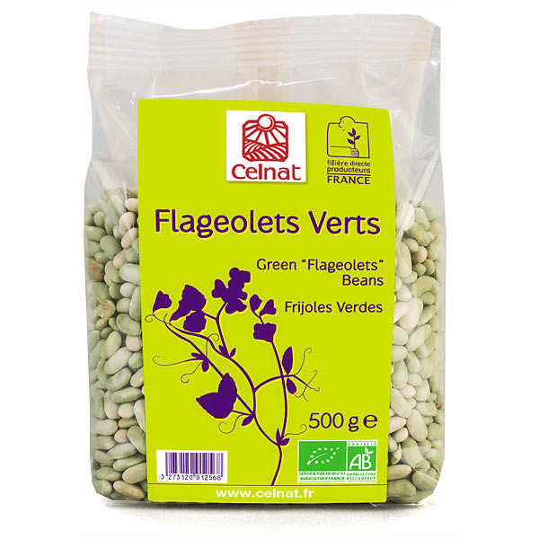 "Organic Green ""flageolet"" beans"