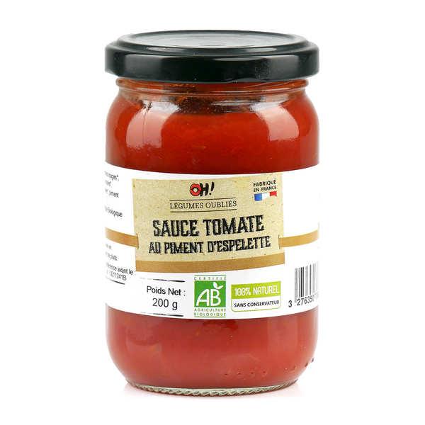 Sauce tomate aux oignons et au piment d'Espelette bio