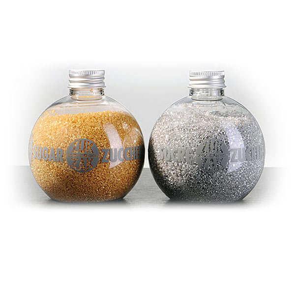 Sphère de sucre festif doré ou argenté