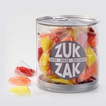 Zuk-Zak - 40 mini-berlingots de sucre coloré - assortiment jaune