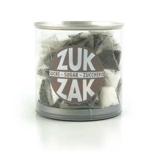 Zuk-Zak - 40 mini-berlingots de sucre coloré - assortiment noir et blanc