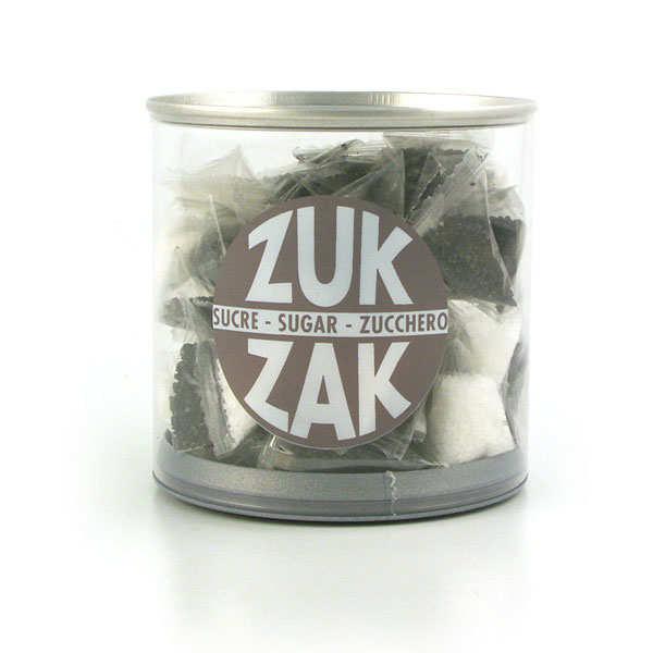 40 mini-berlingots de sucre coloré - assortiment noir et blanc