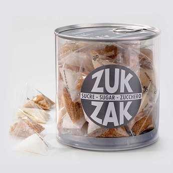 Zuk-Zak - 40 mini-berlingots de sucre coloré - assortiment nature mix