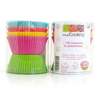 ScrapCooking ® - 100 caissettes pour cupcakes de couleurs assorties