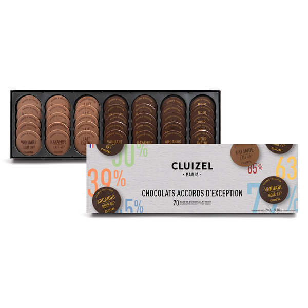 'Grandes Teneurs' Chocolate Disc Assortment by Michel Cluizel
