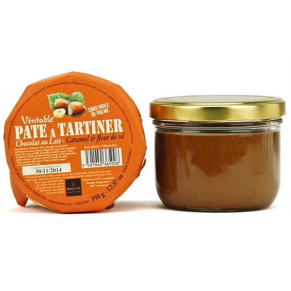 Véritable pâte à tartiner chocolat au lait caramel sans huile de palme