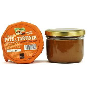 Bovetti chocolats - Véritable pâte à tartiner chocolat au lait caramel sans huile de palme