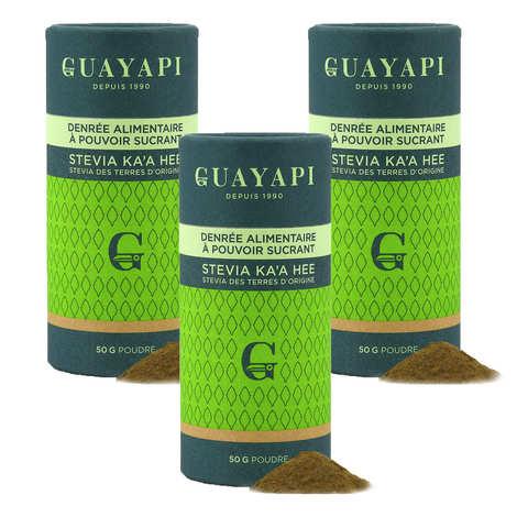 """Guayapi Tropical - Stevia en poudre verte - """"Offre Spéciale 3 boites"""""""