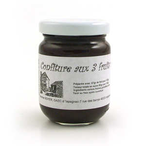 Gaec d'Ispagnac - Martine Boyer - Confiture aux 3 fruits rouges - Languedoc