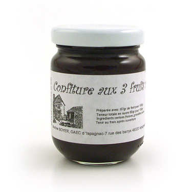 Confiture aux 3 fruits rouges - Languedoc
