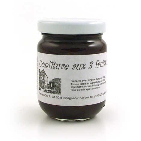 Gaec d'Ispagnac - Martine Boyer - Confiture aux 3 fruits rouges - Languedoc