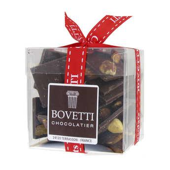 Bovetti chocolats - Mendiants au chocolat noir