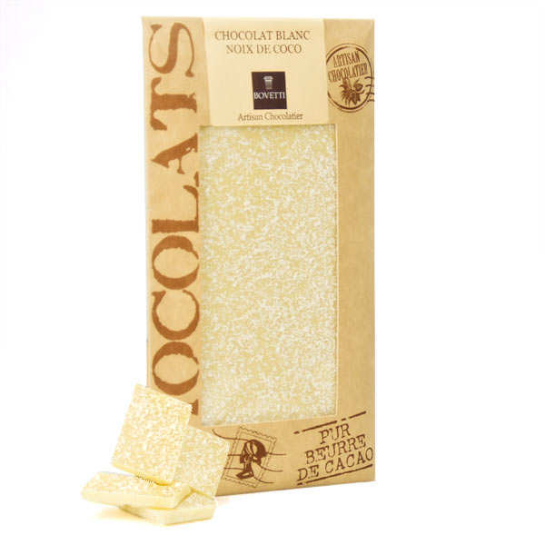 White Chocolate Bar with Coconut