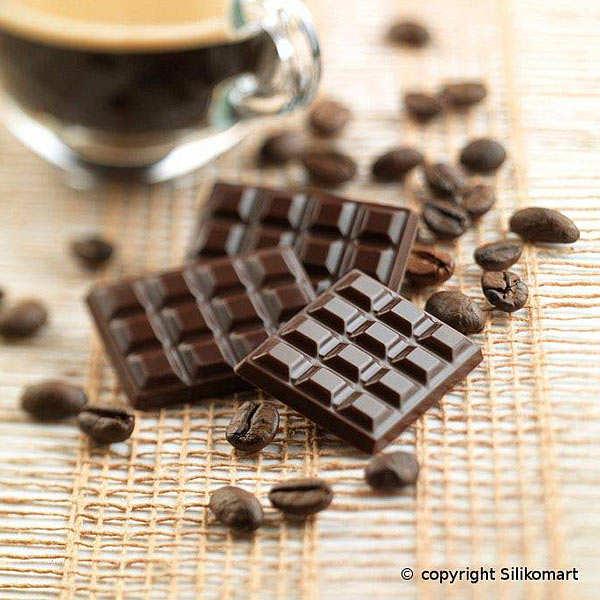 Moule silicone mini tablettes de chocolat