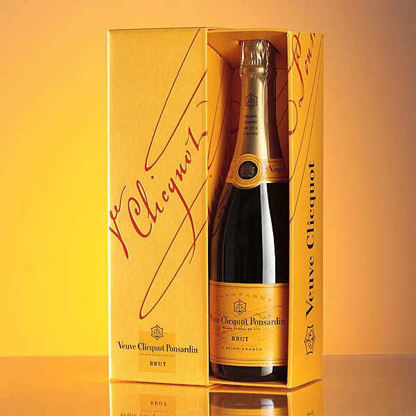 Champagne Veuve Clicquot Ponsardin - Brut Carte Jaune - la bouteille de 75cl et son étui
