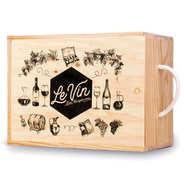 Les Ateliers de la Colagne - Caisse bois à glissière - 6 bouteilles