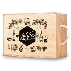 Les Ateliers de la Colagne - Wooden box for 6 bottles of wine