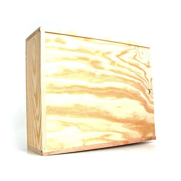 caisse bois neutre glissi re 6 bordeaux les ateliers. Black Bedroom Furniture Sets. Home Design Ideas