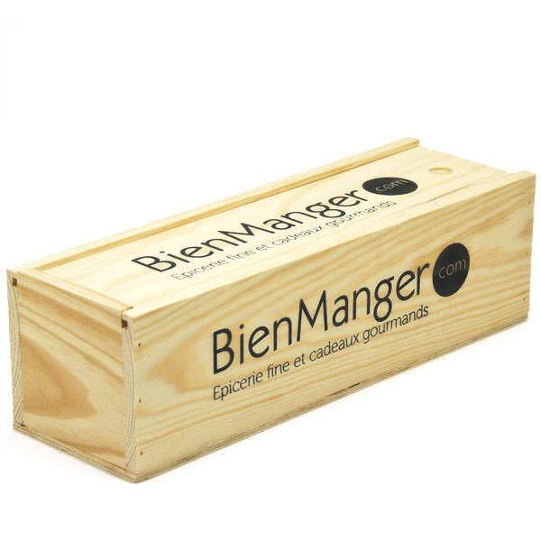 caisse bois glissi re 1 bouteille les ateliers de la. Black Bedroom Furniture Sets. Home Design Ideas