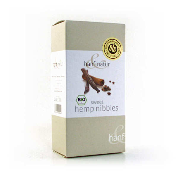 Organic vanilla and cinnamon sweet hemp nibbles