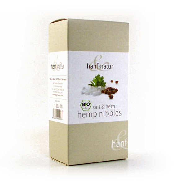 Organic salt and herb hemp nibbles